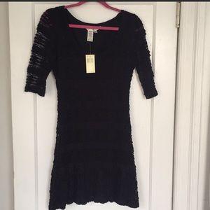NWT Max Studio Black Lace Mini Dress Size Large